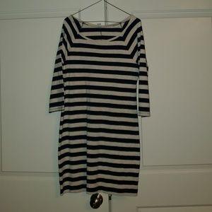 3/4 Sleeve Cotton Shift Dress